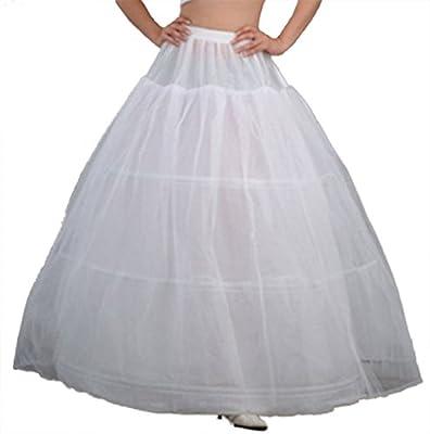 V.C.Formark Crinoline Underskirt Petticoat slip for Wedding Bridal Dress White