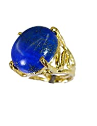 Riyo Blue Pretty Lapis Lazuli 18c Gold Plating Finger Armor Ring Women 10 Gprlla5-44049