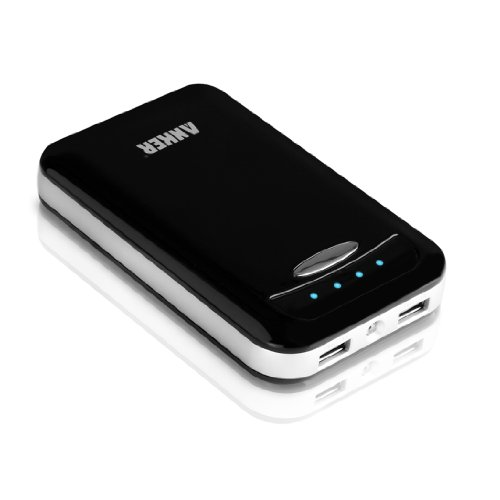 Anker® Astro E4 13000mAh Dual USB Portable Charger Backup External Battery Power Bank for iPad Air, mini, iPhone 5S, 5C, 5, 4S, Galaxy S5, S4, S3, Note 3, Nexus 4, 5, 7, 10, HTC One, One 2 (M8), Droid DNA, Motorola Droid, MOTO X, LG Optimus, most other smartphones and tablets (Apple adapters 30 pin and lightning, not included) - Black