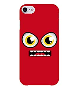 Chiraiyaa Designer Printed Premium Back Cover Case for Apple iPhone 7 (smiley) (Multicolor)