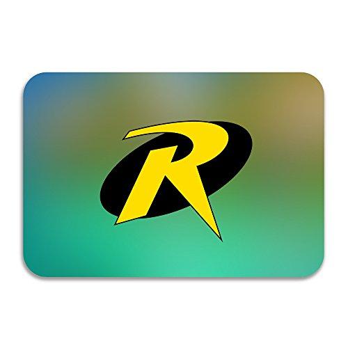 Ptgik Batman Robin R Super Hero Logo Non Slip Doormat White Import