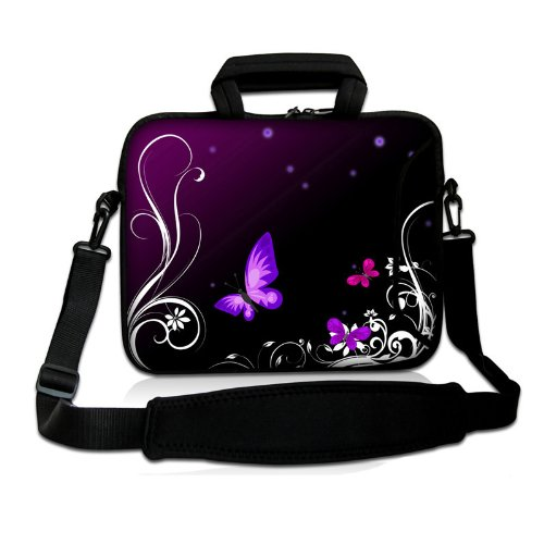 "17"" 17.3"" 17.4"" Inch Neoprene Notebook Laptop Soft Bag Sleeve Case Cover Pouch With Adjustable Shoulder Strap For Apple Macbook Pro 17 /Hp Envy 17 Series/ Pavilion Dv7/Dv7T/G72/G72T/G7T/M7 Series / Dell Inspiron 17 17R I17Rm I17Rv Xps 17 Series/Asus Rog G front-590145"