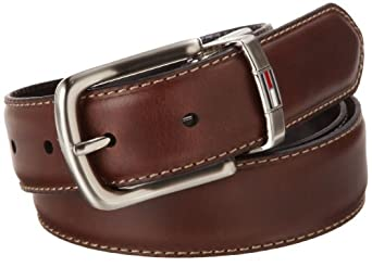 (便宜)Tommy Hilfiger 汤米 男士正装商务皮带 Reversible Belt $22.77