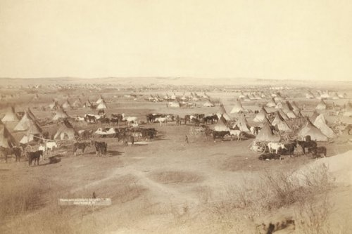 Hostile Indian Camp - Lakota, By John C.H. Grabill, 20X30 Canvas Giclée, Gallery Wrap front-877854