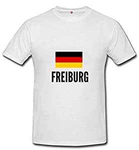 T-shirt Freiburg city White