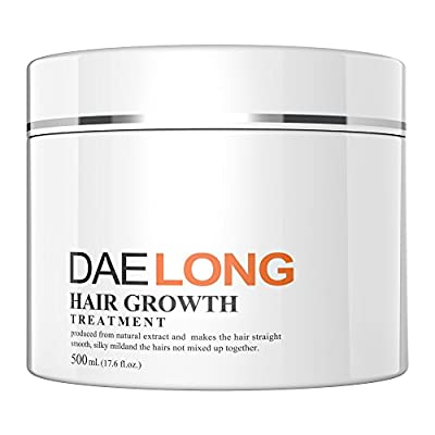 Hair Growth Treatment Cream - Revitalizes Dry, Damaged Hair - Fast & Promotes Hair Long Healthy - Anti-Hair Loss-Moisturizing, Detangling & Lightweight Synthesis with Vitamin B5, Hydrolyzed Protein