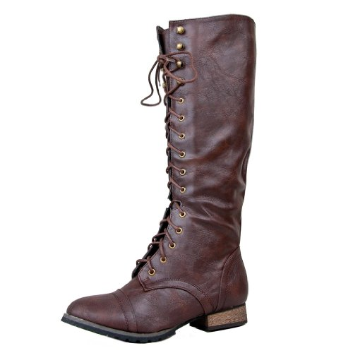 breckelle s outlaw 13 knee high stacked heel