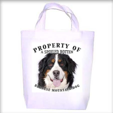 Bernese Mountain Dog Property Shopping - Dog Toy - Tote Bag