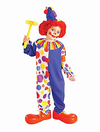 Clown Child Halloween Costume Size 12-14 Large