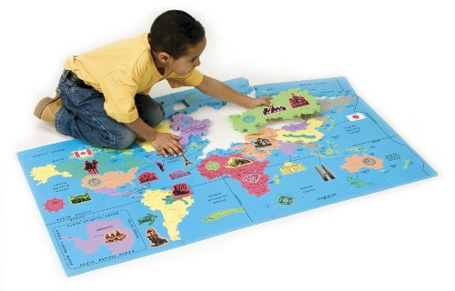 Cheap Chenille Kraft WonderFoam® World Map Puzzle (B000F8XA5E)