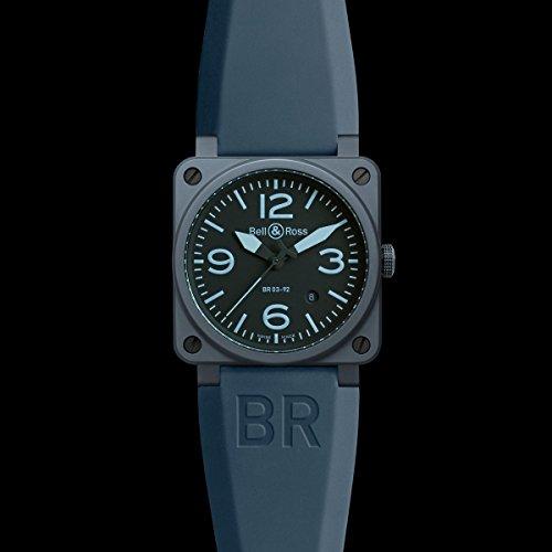 Bell & Ross BR0392-CERAM-BLUE - Reloj , correa de goma