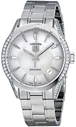 Tag Heuer Carrera Mother of Pearl Dial Diamond Stainless Steel Automatic Ladies Watch WV2212BA0798