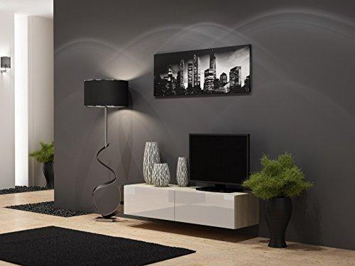 TV-Board-Lowboard-Migo-Hngeschrank-Wohnwand-Sonoma-Eiche-Matt-Wei-Hochglanz