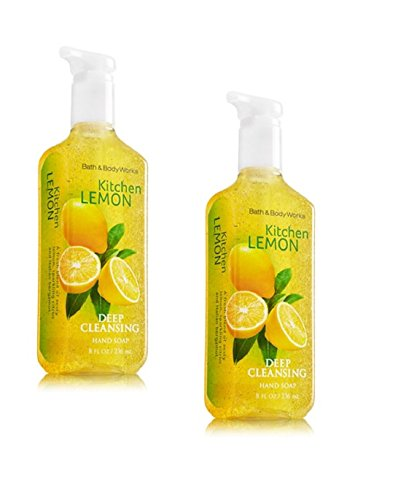 bath-and-body-works-anti-bacterial-deep-cleansing-hand-soap-kitchen-lemon-lot-of-2