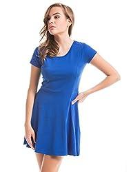 Prym Women's A Line Dress (1011506501_Bright Blue 19-4050_X-Large)