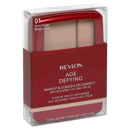 Buy Revlon Age Defying Makeup & Concealer Compact with Botafirm, SPF 20, Ivory Beige 01, 0.4 oz (11.3 g) (Pack of 2)