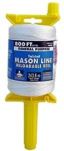 Lehigh Secure Line NST181RL Reloadable Reel Mason Line, 800-Foot