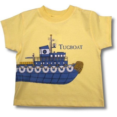 Big Fish Boys Tugboat Wrap Tee ~ Blue Boat - Buy Big Fish Boys Tugboat Wrap Tee ~ Blue Boat - Purchase Big Fish Boys Tugboat Wrap Tee ~ Blue Boat (Sweet Potatoes, Sweet Potatoes Boys Shirts, Apparel, Departments, Kids & Baby, Boys, Shirts, T-Shirts, Boys T-Shirts)