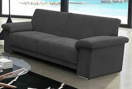 Oregon Microfibre FK Brown 3Seater Sofa