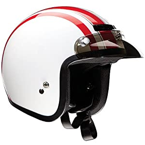Z1R JIMMY RETRO HELMET WHITE/RED XL