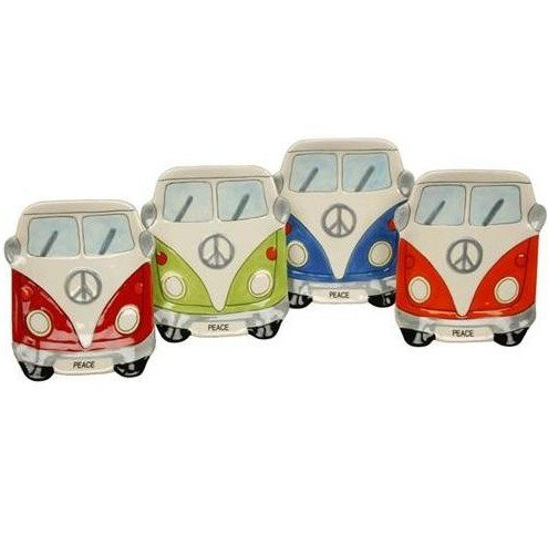 NEW GIFT CAMPERVAN SERVING DISH / TAPAS DISH / ASH TRAY (COLOUR CHOICE) (Red)