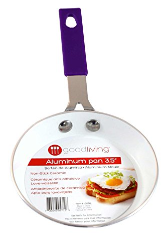 Good Living 3.5-Inch Fast-Heating Aluminum Single-Egg Pan, Purple, 1-pack (Small Egg Pan With Lid compare prices)