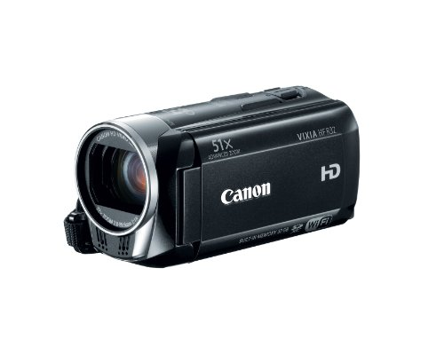 Canon VIXIA HF R32 Full HD 51x Image Stabilized Optical Zoom Camcorder–Wi-Fi Enabled with 32 GB lnternal Drive Dual SDXC Card Slots and 3.0 Touch LCD