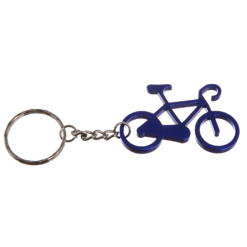 Colorful Bicycle Metal Bottle Opener & Keychain Bike Key Ring Bottle Cap Opener (Blue) (Bottle Cap Bottle Opener Keychain compare prices)