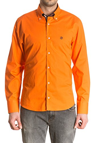 di-prego-camisa-de-hombre-manga-larga-color-naranja-puno-reversible-estampado-con-botones-para-ajust
