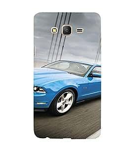 EPICCASE Blue Car Mobile Back Case Cover For Samsung Galaxy On5 (Designer Case)