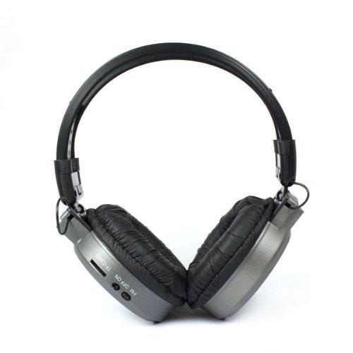 Sannysis(Tm) 1Pc Grey Lcd Foldable Wireless Headphone Headset Fm Radio Tf Card Sport Mp3 Player