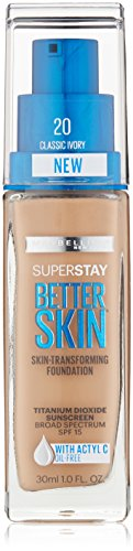 Maybelline New York Superstay Better Skin Foundation, Classic Ivory, 1 Fluid Ounce