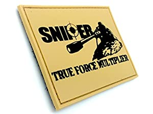 SNIPER True Force Multiplier Kaki Airsoft Velcro PVC Patch