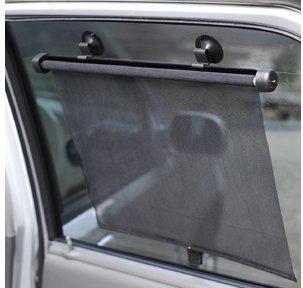 夏の紫外線からお肌を守る車用日よけカーテンワンプッシュで自動巻取り収納♪車内用サイドバイザー