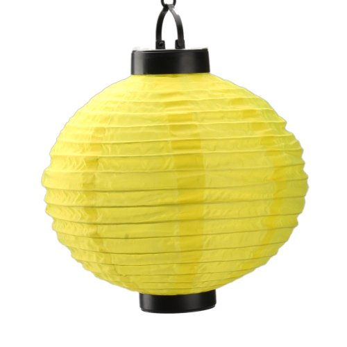 Micromall(Tm) Outdoor Party Automatic Charging Lantern Glim Solar Power Light (Yellow)