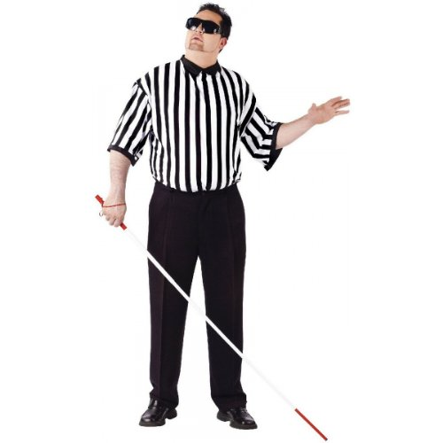 Blind Referee EZ Guy Costume Costume - Plus Size - Chest Size 48-53