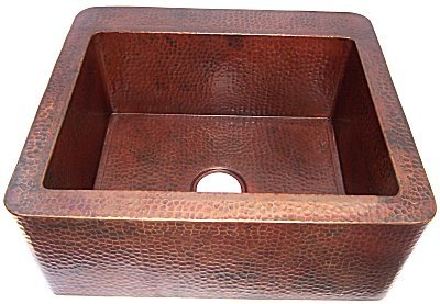 Farmhouse Hammered Copper Sink III