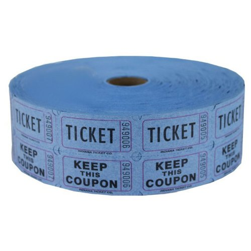 Blue Double Raffle Ticket Roll 2000 (Double Raffle Tickets Blue compare prices)