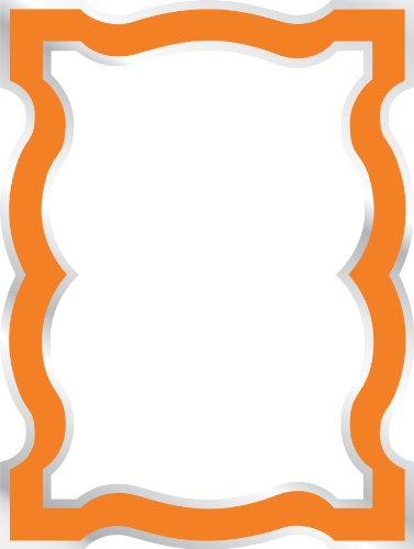 Jonathan Adler Wallpops Wpe0241 Queen Anne Orange Enamel Dry Erase Board Wall Applique back-80534