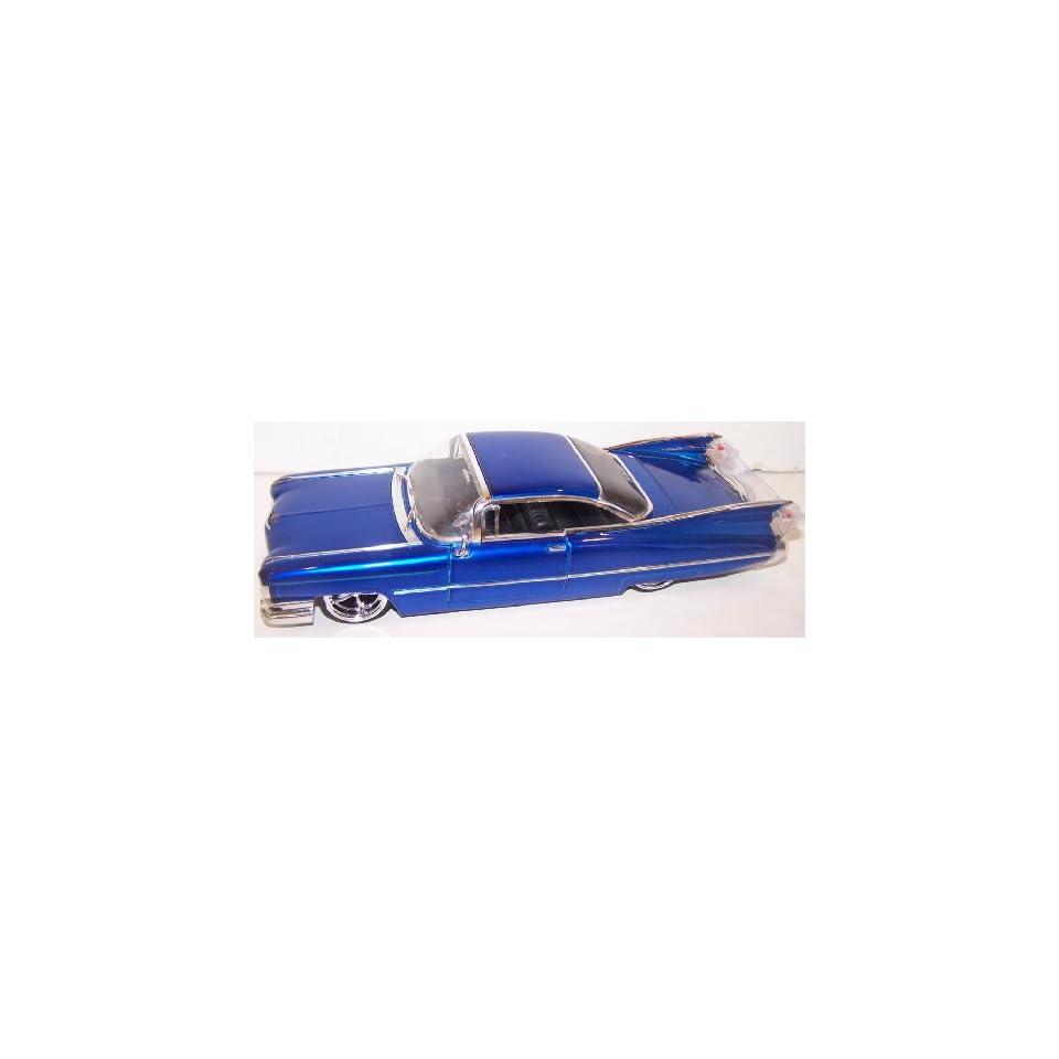Jada Toys 1/24 Scale Dub City Diecast 59 Cadillac Coupe De Ville in Color Blue