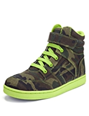 Riptape & Lace Up High Top Camouflage Trainers