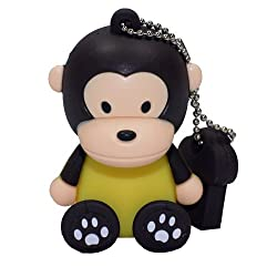 Ricco ® Baby Monkey USB High Speed Flash Memory Stick Pen Drive Disk (16GB SIT BROWN)