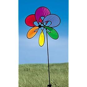 Rainbow Flower Pinwheel