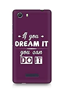 Amez If you can Dream it You can do it Back Cover For Micromax Unite 3
