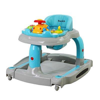 2 In 1 Baby Tunes Musical Activity Baby Walker & Rocker Color: Grey front-982080