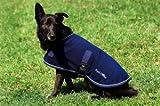 EQUI-THÃME'Polar' dog rug - 26 cm/10' - Black, Golden Binding