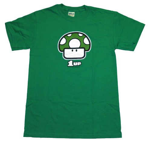 One Up Super Mario Brothers Mushroom Nintendo Video Game T-Shirt Tee Select Shirt Size:
