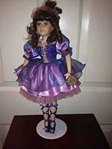collector 39 s choice dan dee limited edition purple ballerina porcelain doll toys games. Black Bedroom Furniture Sets. Home Design Ideas