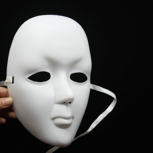 [Scary White Face Halloween Masquerade DIY Mime Mask DIY Party Costume Masks] (Scary Mime)