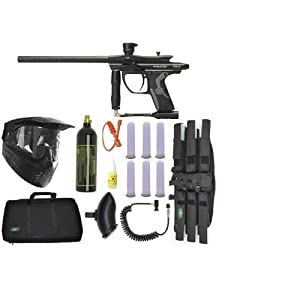 2012 Kingman Spyder Fenix Electronic Paintball Gun Sniper Set - Diamond Black